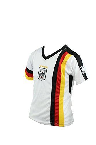 GERMANY DEUTSCHLAND Kinder-Trikot mit Mesh-Einsätzen, weiß/schwarz, Gr. 110-116