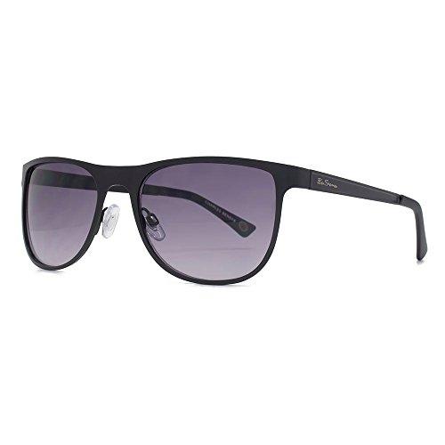 Ben Sherman lunettes de soleil BCBG tôle plat noir mat BEN018 Grey