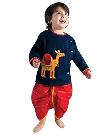a9dbfa42 Boy's Indian Style Dhoti Kurta Navy Blue Special kurta Pyjamas For ...