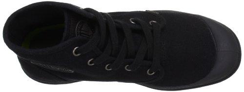 Palladium PAMPA HI~BLACK/BLACK~M 92352-060-M - Botas de lona para mujer, color gris, talla 39,5 Negro
