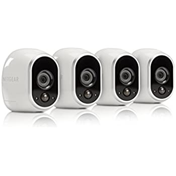 Arlo by NETGEAR Security System – 4 Wire–Free HD Cameras | Indoor/Outdoor | Night Vision (VMS3430)