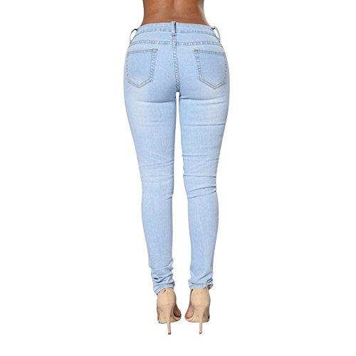 Matita Strappato Della Del Jeggings Azzurro Jeans Mena Tubo Donna Uk Ritagliare PwTnC0x