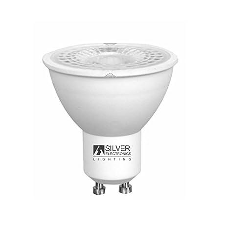 Silver Electronics 1440910 LED Eco Dicroica GU10, 8 W, Blanco: Amazon.es: Iluminación