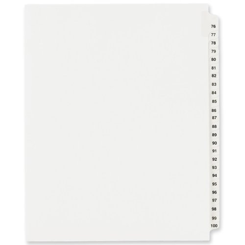 Avery Dividers Standard Collated 01333