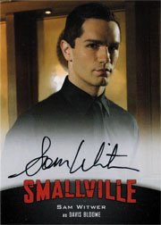 Smallville Seasons 7 thru 10 A5 Autograph Card Sam Witwer as Davis Bloome
