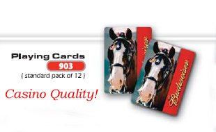(Budweiser Clydesdale Casino Playing Cards)