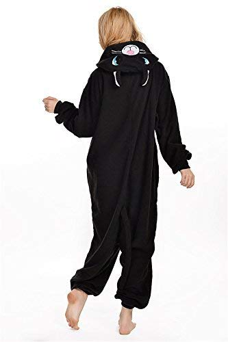 Kigurumi Abyed® Anime Pigiama Costume Gatto Nero Cosplay Halloween Attrezzatura qqRrwd