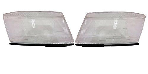 (New Saab 900 9-3 Headlight Lens 1994-2003 Pair 5288964)