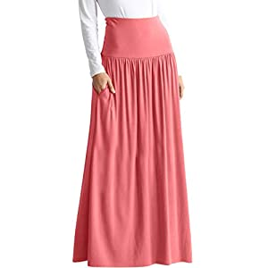 Womens Long Maxi Skirt with Pockets Reg and Plus Size - Made in The USA 18