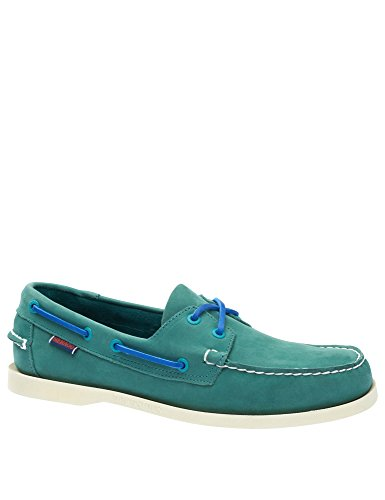 Leather Docksides Leather Shoes Teal Green Nubuck Sebago Men's Men's WSqnwZX