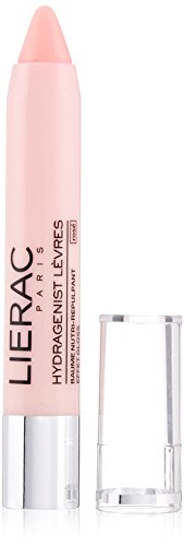 LIERAC Hydragenist Lip Balm with Pink Gloss Effect, Rose Vanilla, 0.1 oz.