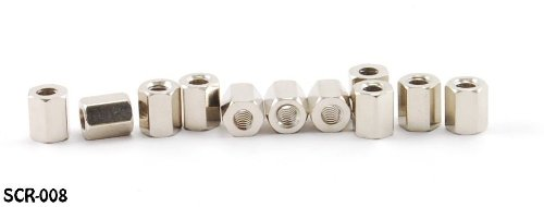 SCR-008-10 CablesOnline 10-Pack D-Sub Cable End /& Bracket Computer Hex Nuts