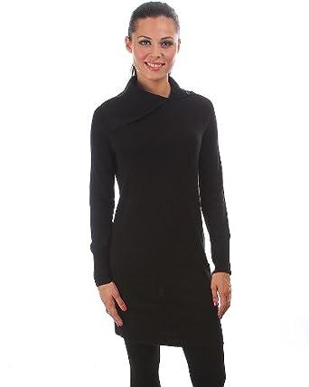 G2 Fashion Square Womens Button Down Turtle Neck Sweater Dressdrs