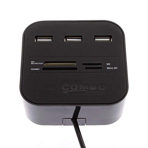 Storite All in One USB Hub Combo 3 USB Ports and All in one Card Reader