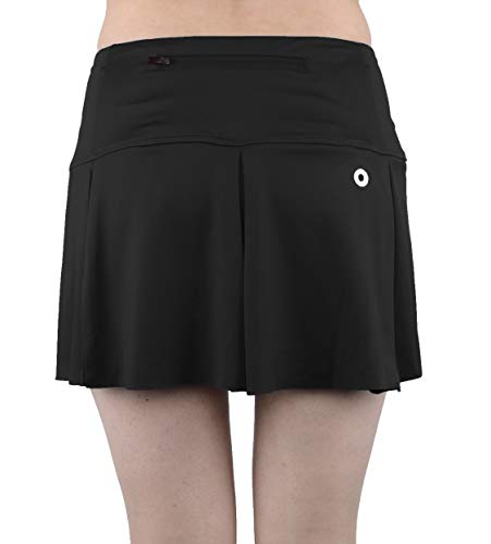 slimour Women Dance Skirt Short Golf Mini Skirts Athletic Skort with Pockets Workout Shorts Black 4