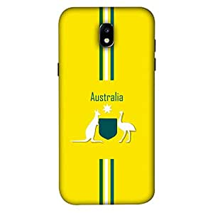 ColorKing Samsung J5 Pro 2017 Football Yellow Case shell cover - Fifa Australia 01