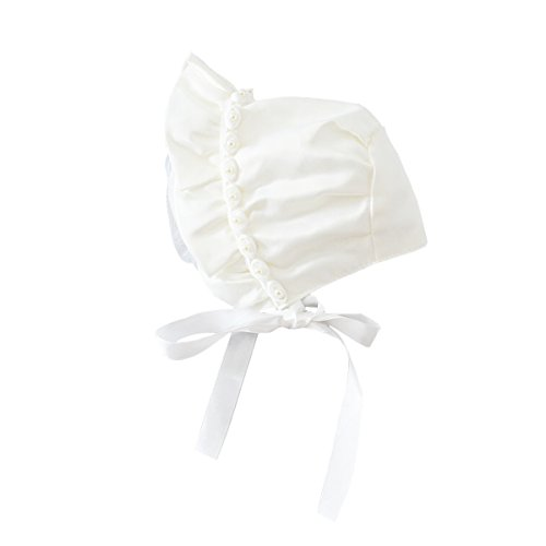 - KEFAN Halloween Baby Costume Infant Baby Girl Satin Bonnet Sun Hat from 6-18 months/2-3 Years Old, Off-White (6-18 months)