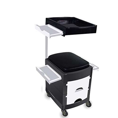 - MS Storage Trolley Tool Cart - Hairdressing Salon Shop Tool Stool Hair Salon Beauty Salon Supplies Tool Cabinet Nail Cart @ (Color : C, Size : 44.133.182.4 cm)
