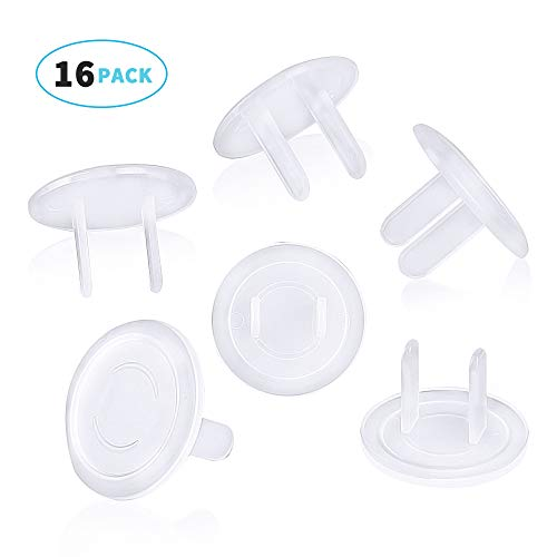 (ChuYa Outlet Plug Cover (16 Pack) Clear Child Proof Electrical Protector Safety Caps)