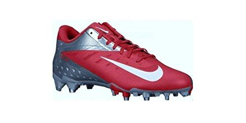 Nike Vapor Talon Elite Bas Td Hommes Rouge-argent Chaussures De Football 14 Us