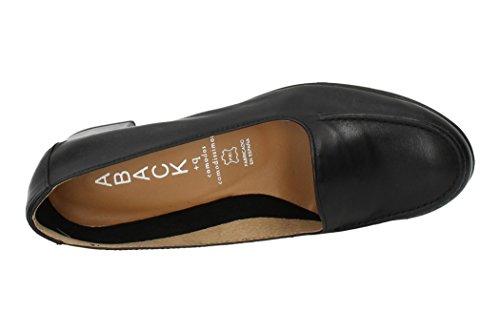 De Aback Mocasín Zapatos Piel Negro 1630 Mocasines V17 Mujer qqSRFtPr