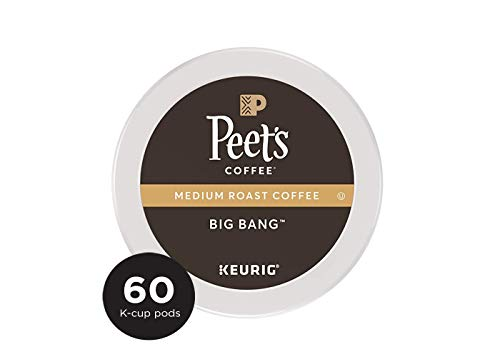 Peet's Coffee Big Bang, Medium Roast, 60 Count Single Serve K-Cup Coffee Pods for Keurig Coffee Maker