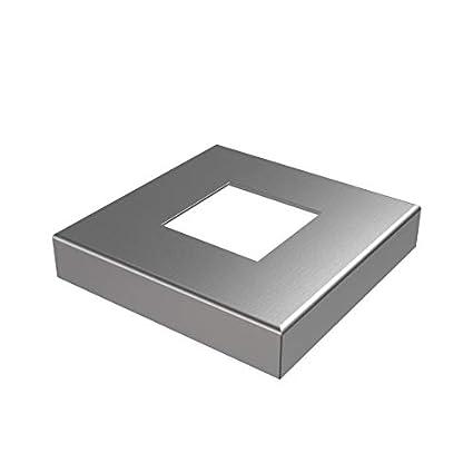 R095.044 - Roseta de acero inoxidable V2A, 40 x 40, tubo ...