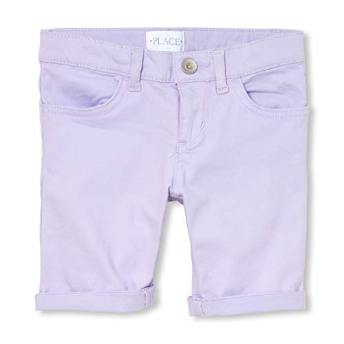 Denim Kids Capris - The Children's Place Big Girls' Denim Skimmer Shorts, Dream Purple, 14