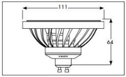 Wurth Foco de LED AR111 12 W luz Natural ángulo de Haz de Casquillo GU10 35: Amazon.es: Hogar