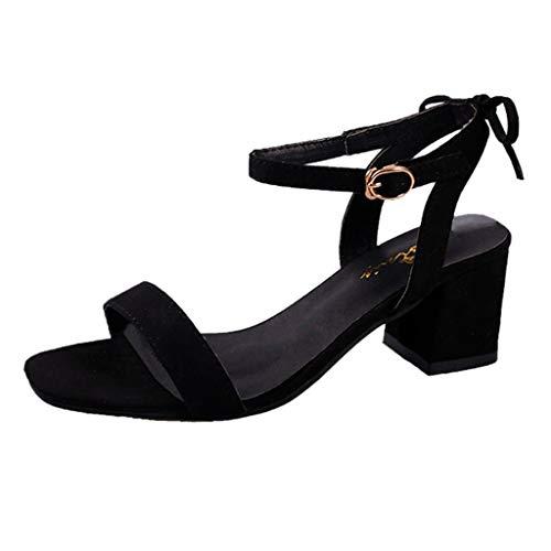 MILIMIEYIK Pumps Shoes, Women's Comfort High Heel Sandal Open Toe Ankle Strap Sexy Dress Chunky Block Heel - Stiletto Sandals -
