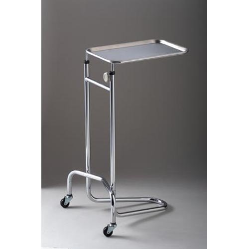 DUKAL 4368 Tech-Med Mayo Stand with Large Tray, Double Post, 20