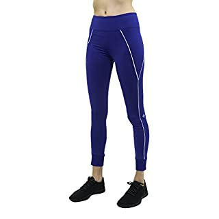 Satva Womens Mid Rise Full Length Samkara Yoga Pants 4 Way Stretch Leggings Tights for Workout Running Sports Soft & Slim Activewear