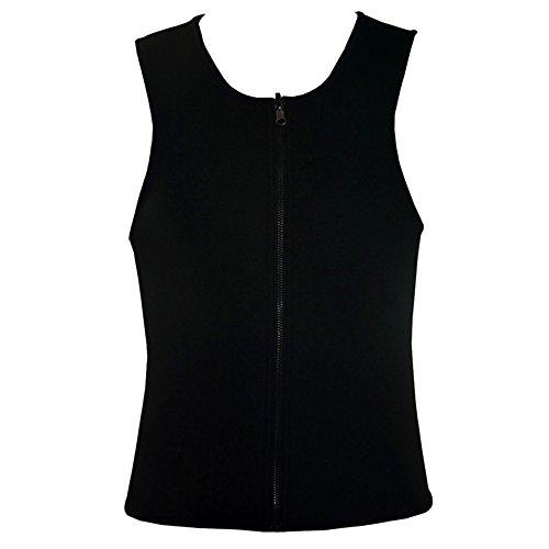 BOZEVON Hombre Fajas Reductoras Waist Reductor Adelgazante de Cinturón Chaleco Deportivo, Negro 1, US XL = Tag 2XL