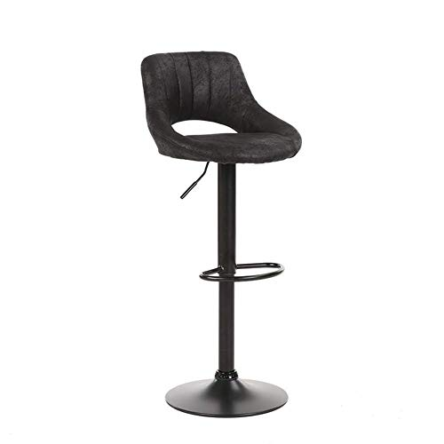 Zclkm 360 Degree Rotating Bar Stool,Counter Height Bar Stools Deep Seat, Adjustable Bar Stool, PU Leather Adjustable Beauty ChairChairs for Cafe,Bar (Color : - Arms Upholstered Bar