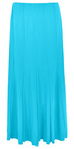 Sonia Fashions Womens Maxi Long 37 inches Length Plain Half Elasticated Skirt Size 12 to 28