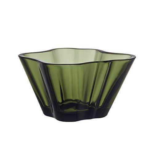 Iittala Alvar Aalto Collection 75 mm Bowl, Moss Green by Alvar Aalto