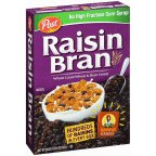 Post Raisin Bran Whole Grain Wheat & Bran Cereal 20 oz (Pack of 12) by Raisin Bran