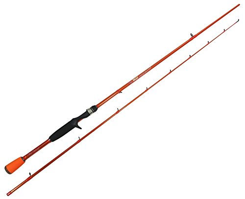 Collapsible 2 piece carrot stix casting wild wild orange for Micro fishing pole