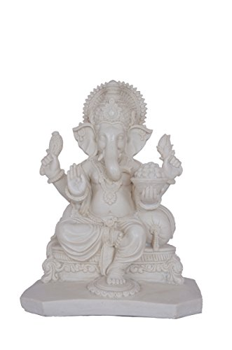 13 Inches BIG Large Ganesh Statue Figure Sculpture Handmade of Marble Art Home Decor Best Gift India Special Handicraft