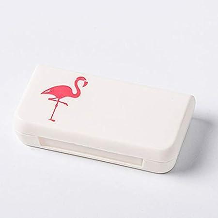 Yogamada Mini Caja de Pastillas de Tres Rejilla portátil