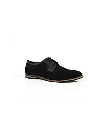 solebay hundon pour homme en daim noir Smart formelles Chaussures à lacets