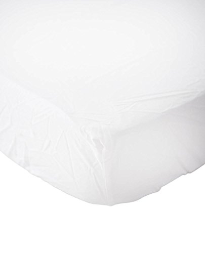 (Little Unicorn Percale Crib Sheet - White)