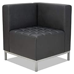 Contemporary geometric reception room sectional set can be configured in endless possibilities. Tufted seat design with straight backs and arms for a modern yet comfortable look. Corner sectional can be configured with armless sectional and o...