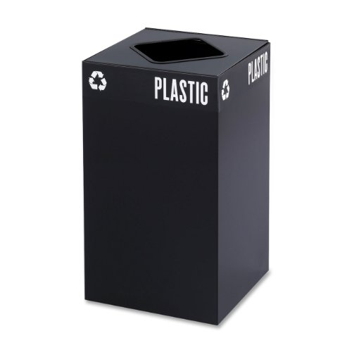 - Safco Products 2981BL Public Square Recycling Trash Can Base, 25-Gallon, (Top sold separately), Black