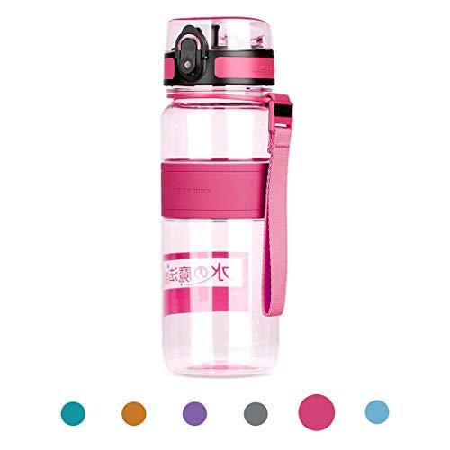 Waterfly Sports Water Bottle 500ml/650ml/1000ml Leak Proof w/One Click Open BPA Free & Eco-Friendly Tritan Water Bottle for Hiking Camping Travelling Cycling