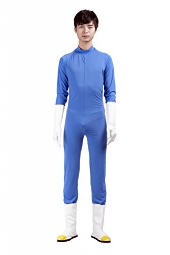 Mtxc Men's Dragon Ball Cosplay Costume Vegeta 2nd Kid Size Large Blue (Vegeta Costume For Kids)