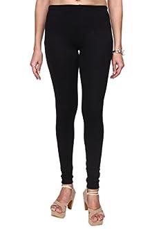 e13a928a726898 Trasa Cotton Lycra Women's Churidar Leggings - Size :- XXX-Large, Black (