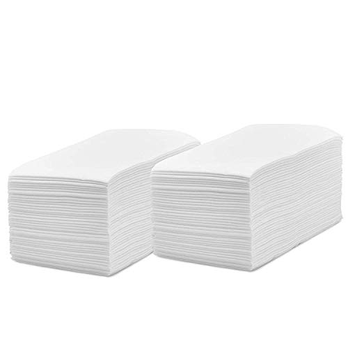 - silver collection Linen Feel Disposable Guest Hand Towels, Cloth Like Napkins Tissue Paper for Bathroom and Kitchen. (White, 200)