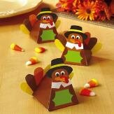 Turkey Favor Boxes Thanksgiving (Set of 6) (Thanksgiving Gift Boxes)