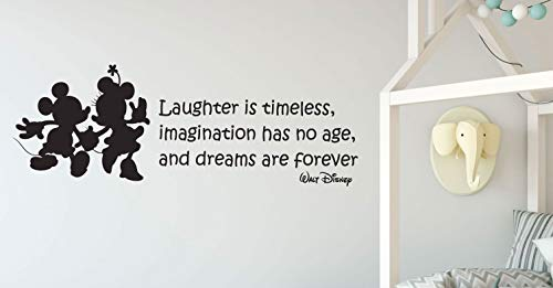 CustomVinylDecor Disney Quotes - Mickey and Minnie Mouse Decorations, Laughter is Timeless